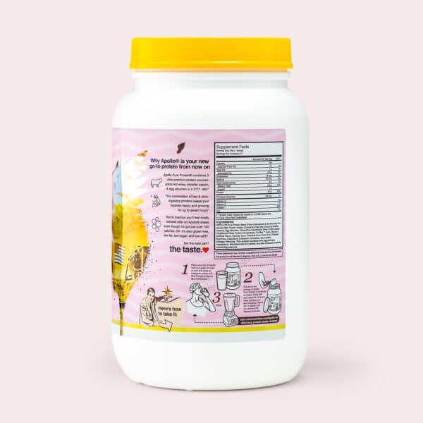 banana protein powder - nutritional info