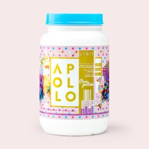 birthday cake protein powder - front label