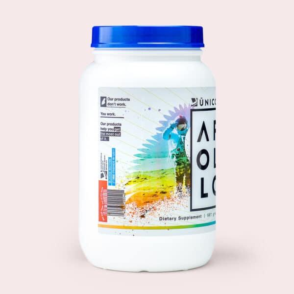 vanilla protein powder - side panel